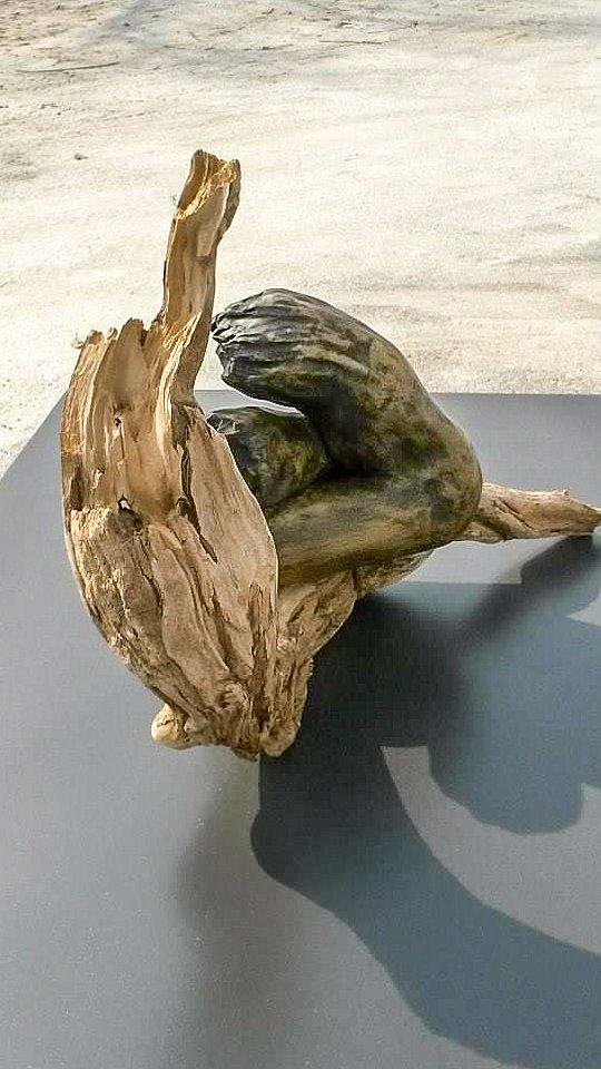 Sculpture en terre cuite nature
